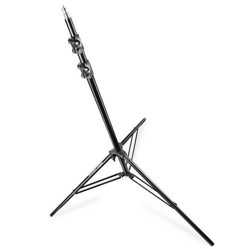 Walimex Pro FT-8051 Lampenstativ 260 cm (Stoßdämpfer, max. Belastbarkeit ca. 4 kg, inkl. Transporttasche)