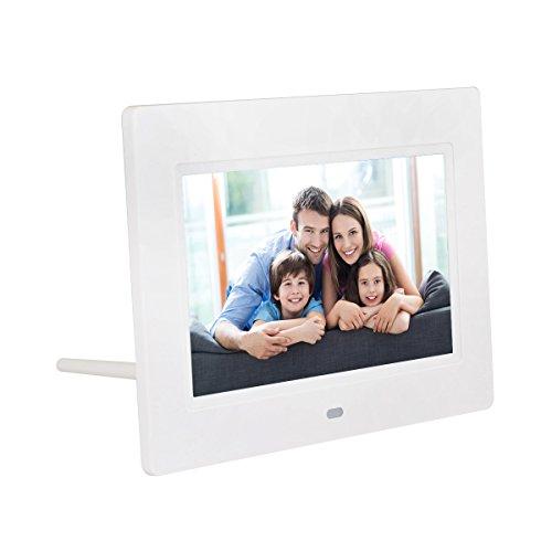 QUMOX 7″ HD LCD Digitaler Bilderrahmen mit Uhr Diashow