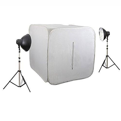 METTLE Studioset CUBE 600 mit Foto-Lichzelt 120 cm, 8×32 W